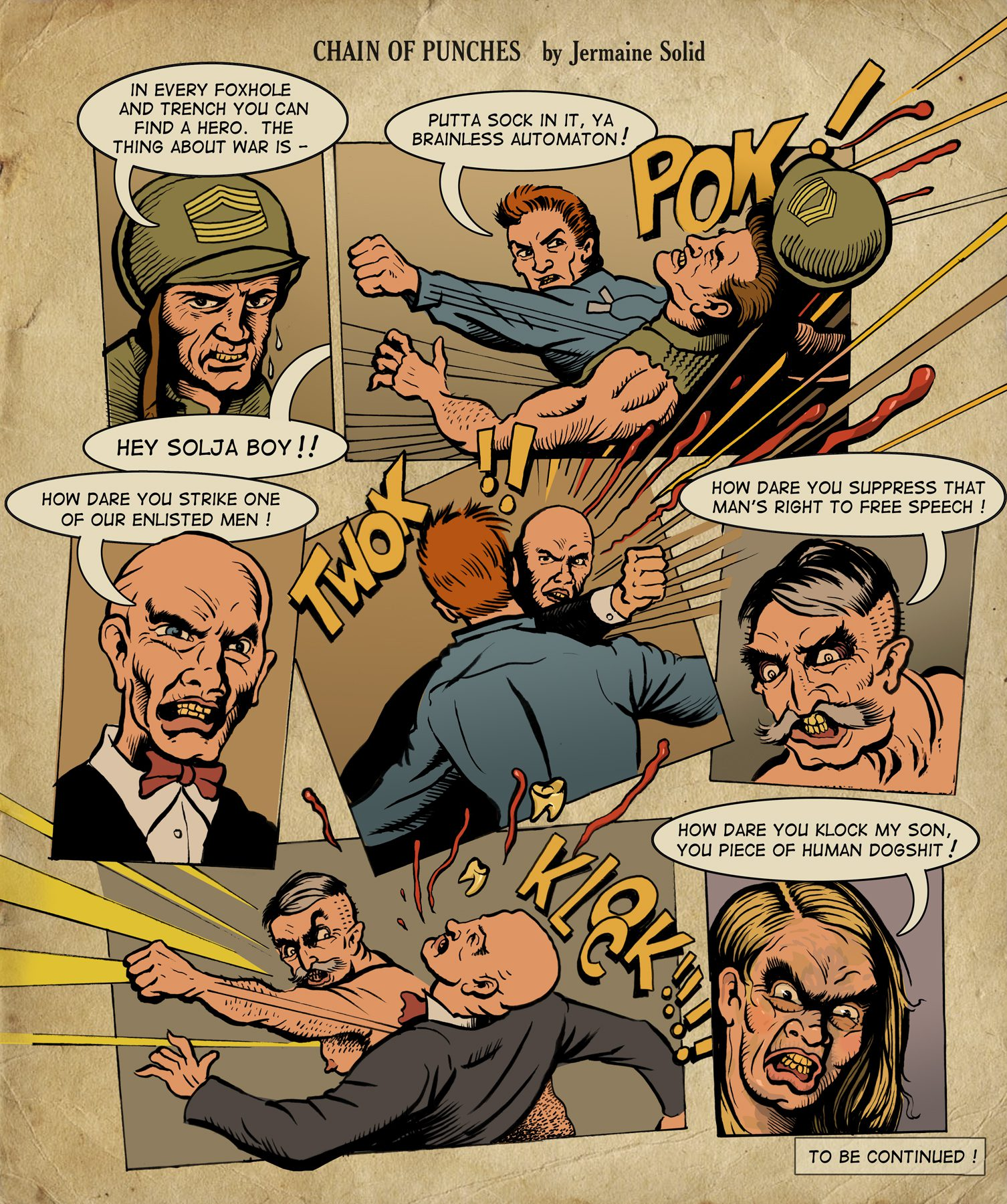 Comics: Chain of Punches