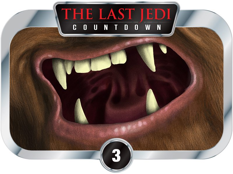 3 Days to SW EP8 – Creatures of A New Hope – Chewbacca